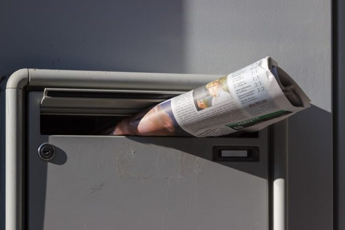 新聞配達 ポスト 入れ方,新聞配達 ポスト 入らない